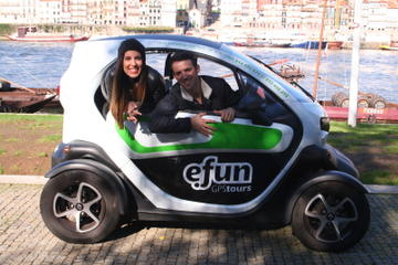 Full Day Porto Experience with GPS Electric Car Tour plus River Cruise and Tapas for 2