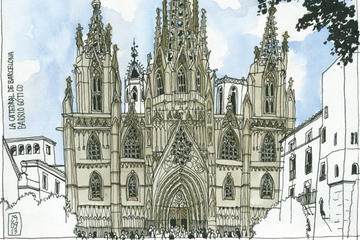 Gothic Quarter Guided Art Workshop in Barcelona