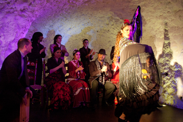 Granada Flamenco Show in Albaicin with Optional Dinner Including Hop-On Hop-Off Train