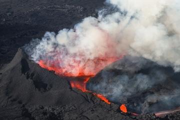 Helicopter Flight from Reykjavik: Volcano Eruption