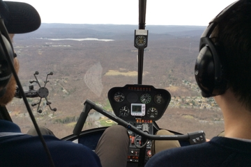 Helicopter Flight Lesson Above New York