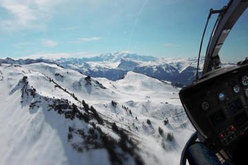 Helicopter tour over Mont Blanc Mountain