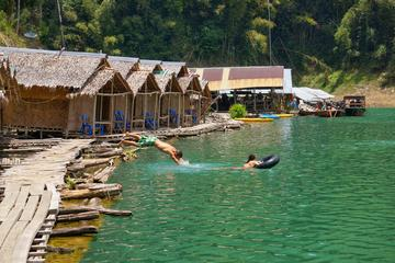 Khao Sok Jungle Safari and Raft House Adventure on Cheow Larn Lake from Krabi