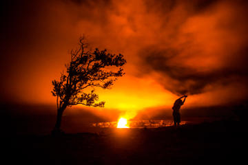 Kilauea Hike and Glow from Kona