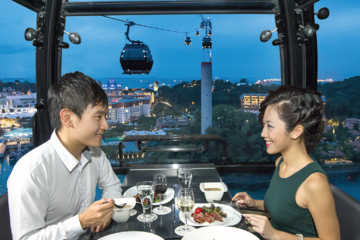 Luxury Sky Dining Experience on the Singapore Cable Car