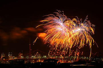 Montreal Fireworks Festival from New Hampshire