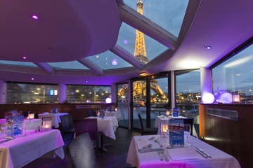 Overnight Paris Seine Cruise with Eiffel Tower Views, Dinner and Live Entertainment