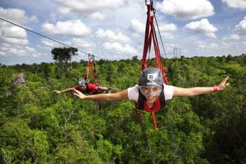Playa del Carmen Adventure Tour at Selvatica: Zipline, Aerial Bridge, ATV, Bungee Swing and Cenote Swim