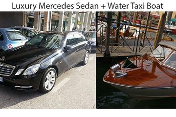 Private Limousine Transfer Treviso Airport to Venice City Center by Car and Water Taxi up 2Pax