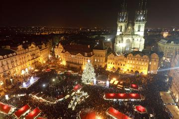 Private Return-Trip Transfer to Prague Old Town and Wenceslas Square Christmas Markets