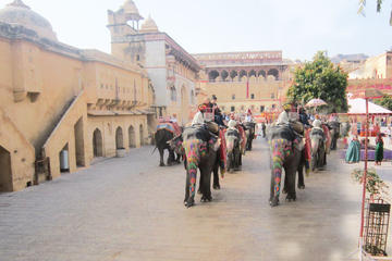 Private Tour: 2-Day Jaipur Tour including Elephant Ride at Amer Fort and Chokhi Dhani Dinner