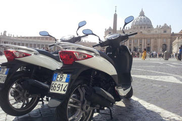 Rome by Scooter Escorted Half-Day Sightseeing Tour