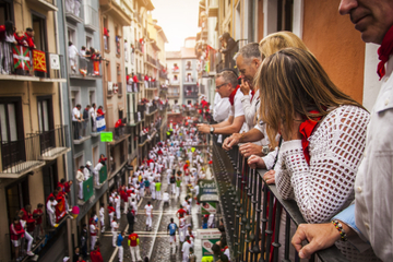 Running of the Bulls Balcony Spot Pamplona