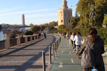 Seville Bike Tour Following the Guadalquivir River
