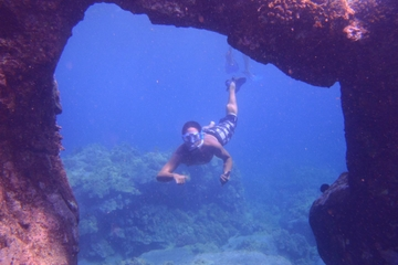 Snorkeling and Kayak Adventure: Underwater Arches, Lava