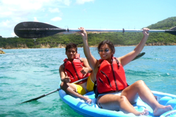 St Thomas Shore Excursion: Snorkel, Kayak and Turtle Discovery with Honeymoon Beach
