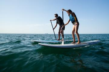 Stand-up-paddle on laguna of Thau, Sete