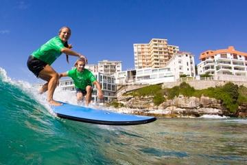 Surfing Lessons on Sydney's Bondi Beach