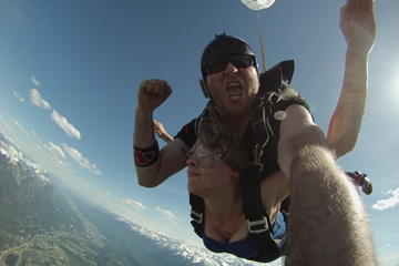 Tandem Skydive Over the Canadian Rockies