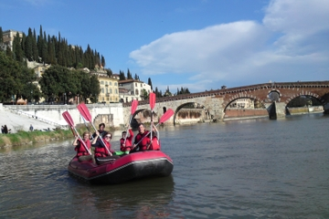 Verona Bike Tour and River Adige Rafting