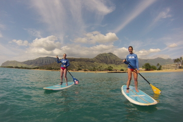 Waikiki Stand-up Paddleboard Lesson with Round-trip Transport